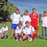Fussball-Team-weiss