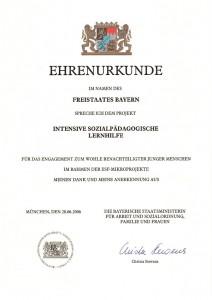 ISPLH-Ehrenurkunde